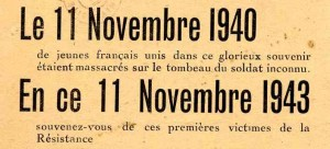 commemo 11 nov 1943
