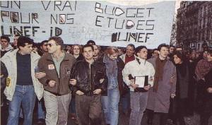 manifestation unef unef id novembre 1993