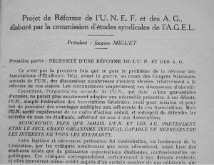 projet de reforme des AG presidence Miguet