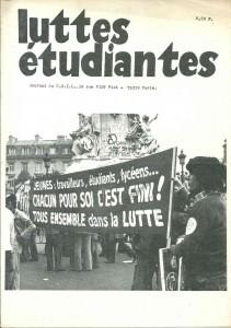 LUTTES ETUDIANTES CNIL 1975 39 RUE PIAT