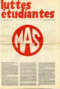 LUTTES ETUDIANTES N° 1 1976