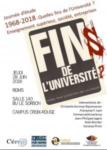 Reims: 1968-2018 : Quelles fins de l'université ? @ Campus Croix Rouge Bibliothèque Sorbon | Reims | Grand Est | France
