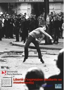 Liberté d'expression en mouvement(s). Nanterre 22 mars @ Université de Paris Nanterre Salle des actes (F 141)