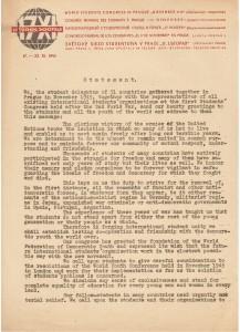 Déclaration finale 23 11 1945. Fonds Tom Madden. Cité des mémoires étudiantes.