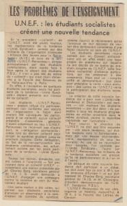 Presse ocean La résistance de l'Ouest 26 01 1971 Nvelle tendance étudiants socialistes